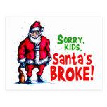 Santa se rompió tarjeta postal