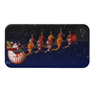 Santa & Seahorse Sleigh Case-Mate iPhone 4 Case