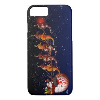 Santa & Seahorse Sleigh iPhone 7 Case