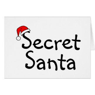 Santa secreto 2 tarjeta de felicitación