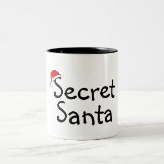 Santa secreto 2 taza dos tonos