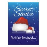 Santa secreto, azul/gorra