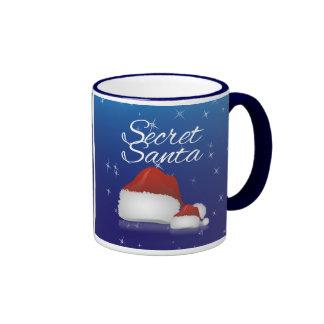 Santa secreto, azul/gorra taza a dos colores