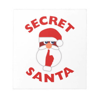 Santa secreto libreta para notas