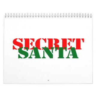 Santa secreto calendarios de pared