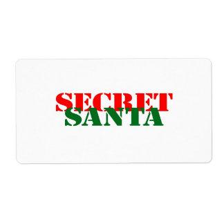 Santa secreto etiquetas de envío