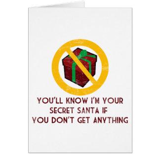 Santa secreto tarjeta de felicitación