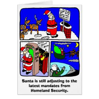Santa Security Christmas Card