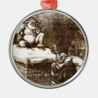 Santa semanal 1865 de Thomas Nash Harper del Adorno Navideño Redondo De Metal