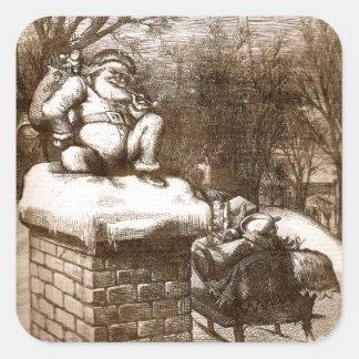 Santa semanal 1865 de Thomas Nash Harper del Pegatina Cuadrada