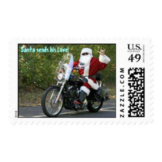 Santa sends his Love! Postage Stamps