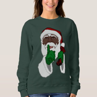 Santa Shirts African American Santa Sweatshirt