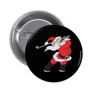 Santa significa negocio pin redondo de 2 pulgadas