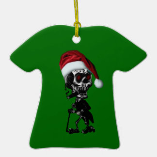 Santa Skeleton Christmas Ornament