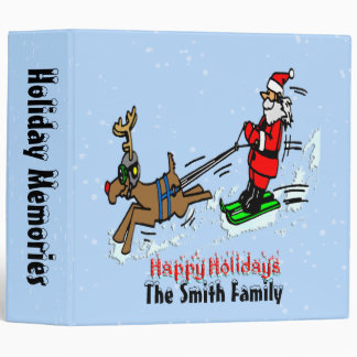 Santa Skiing Holiday Binder