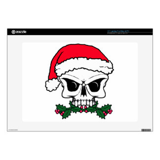 "Santa skull 15"" laptop decals"