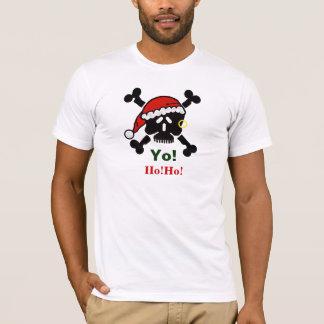 Santa Skull and Cross Bones Christmas T-shirt