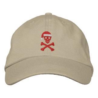 Santa Skull and Crossbones Baseball Cap