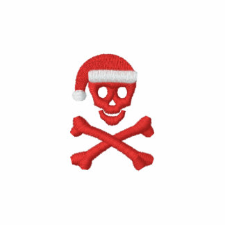 Santa Skull and Crossbones Polo