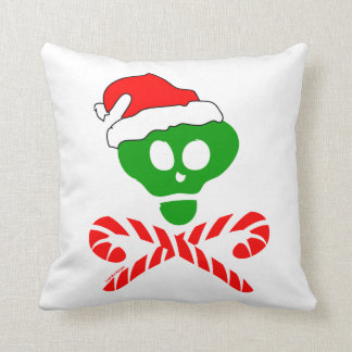 Santa Skull and Crossbones Throw Pillow