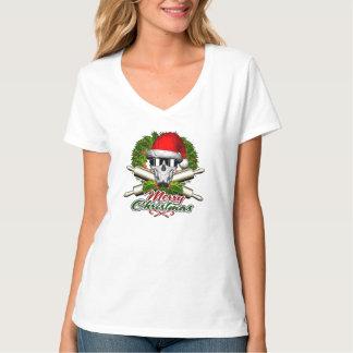 Santa Skull Baker: Merry Christmas T-Shirt