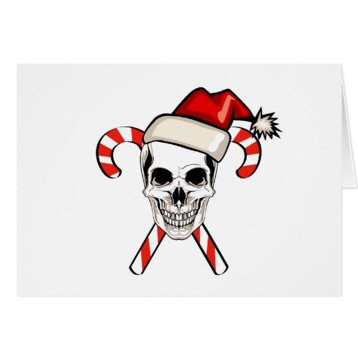 Santa Skull Card