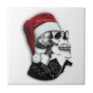 Santa Skull Ceramic Tile