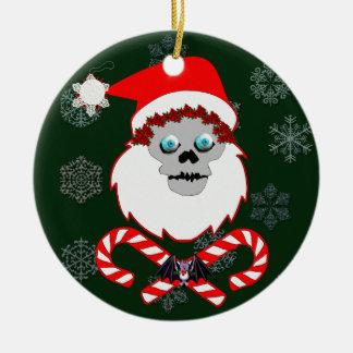 Santa Skull Christmas Ornaments