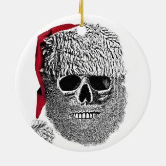 Santa skull christmas tree ornament