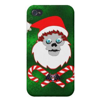 Santa Skull iPhone 4 Cover