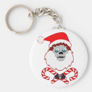 Santa Skull Keychain