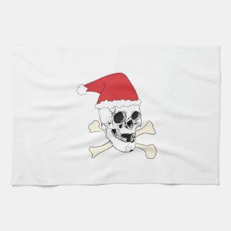 Santa Skull Kitchen Towel