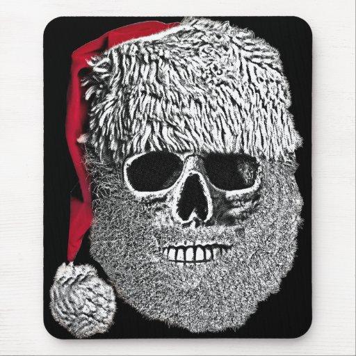 Santa skull mouse pad