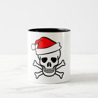 santa skull mug