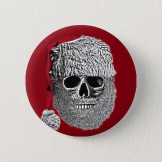 Santa skull pinback button