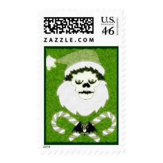 Santa Skull Postage Stamp