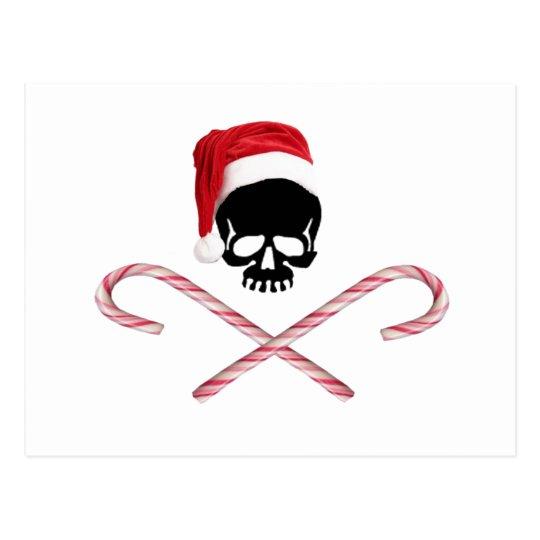 Santa Skull Postcard