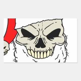 Santa Skull Rectangular Sticker