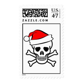 santa skull stamps