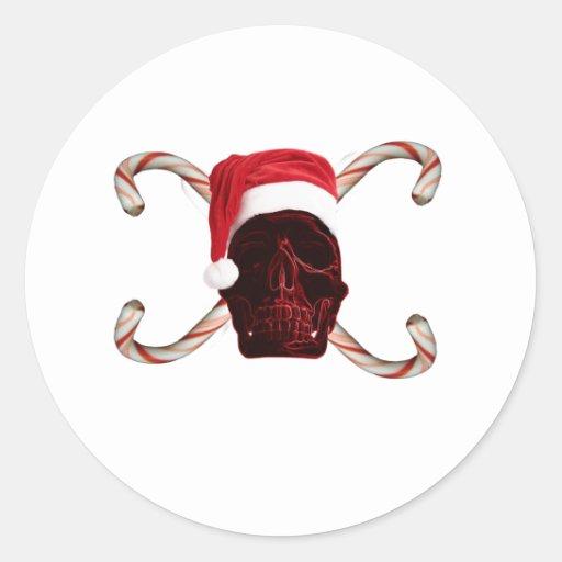 Santa Skull Sticker