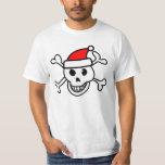 Santa skull t shirt