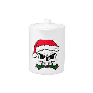 Santa skull teapot