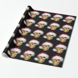 Santa Skull Gift Wrapping Paper