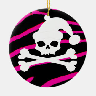 Santa Skull XBones Ornament