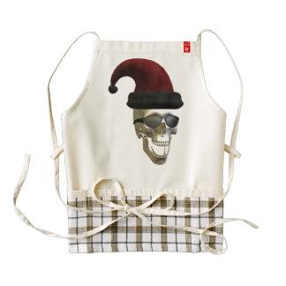 Santa Skull Zazzle HEART Apron