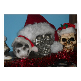 Santa Skulls Note Cards