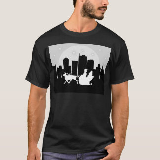 Santa Sled On City Street T-Shirt