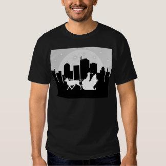 Santa Sled On City Street Tee Shirt