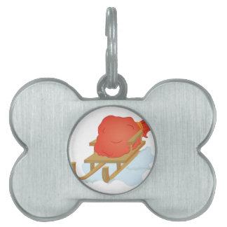 Santa Sled Pet ID Tag