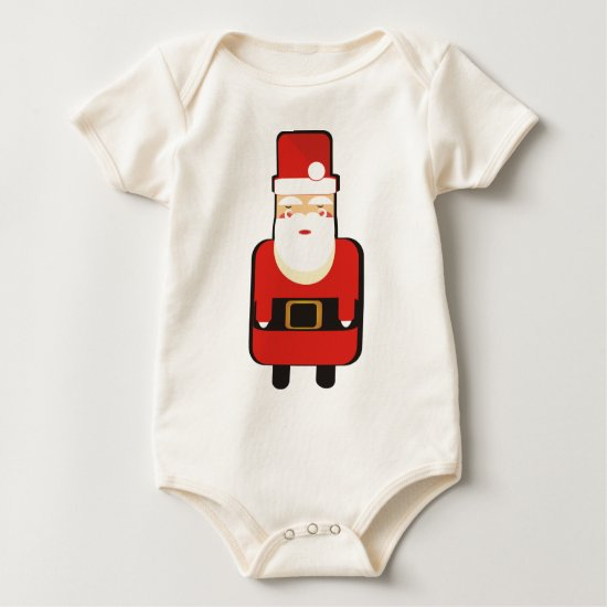Santa Sleeping Baby Bodysuit